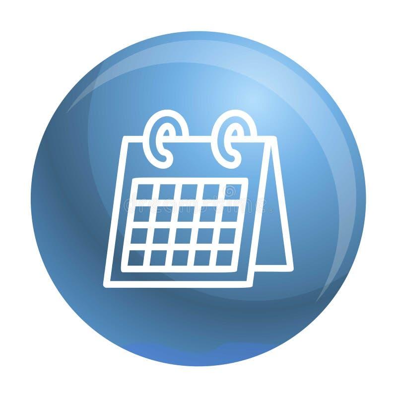 Het pictogram van de bureaukalender, overzichtsstijl vector illustratie