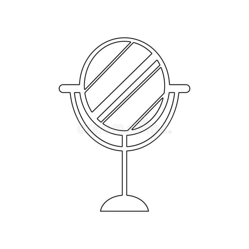 het pictogram van de bureauspiegel Element van Schoonheidssalon voor mobiel concept en webtoepassingenpictogram Overzicht, dun li vector illustratie