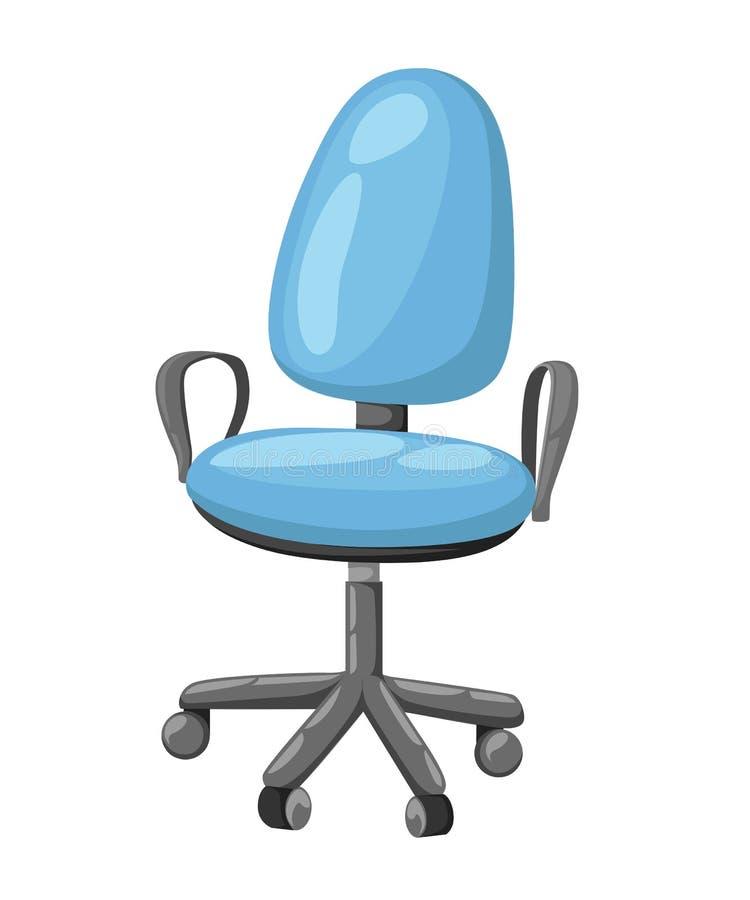 Het pictogram van de bureaustoel voor de stijlillustratie van het binnenland Vlakke ontwerp royalty-vrije illustratie
