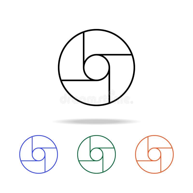 Het pictogram van de cameranadruk Elementen van eenvoudig Webpictogram in multikleur Grafisch het ontwerppictogram van de premiek vector illustratie