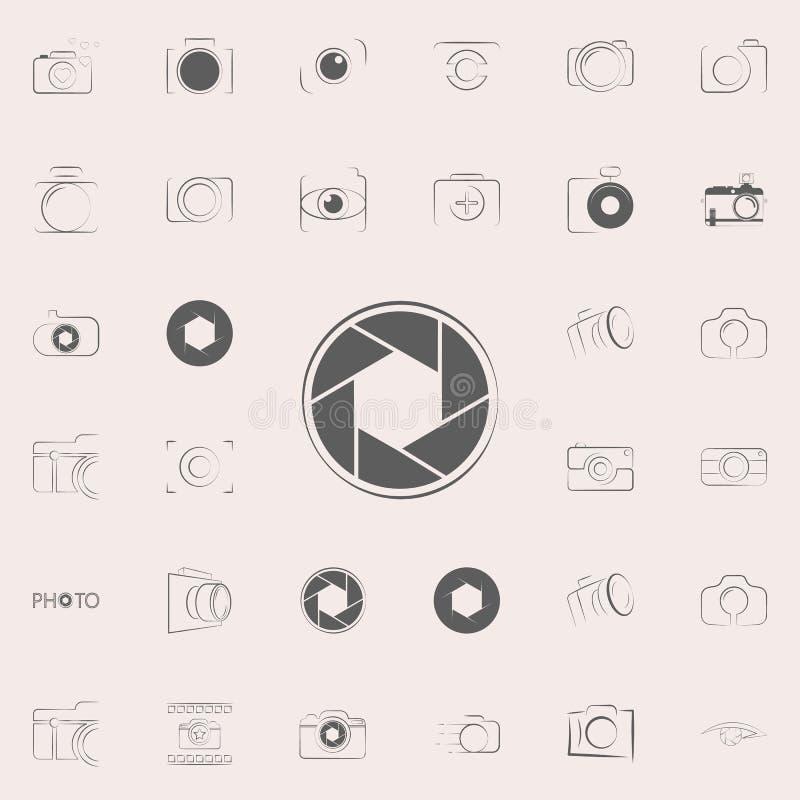 Het pictogram van de cameranadruk Voor Web wordt geplaatst dat en het mobiele algemene begrip van fotopictogrammen vector illustratie