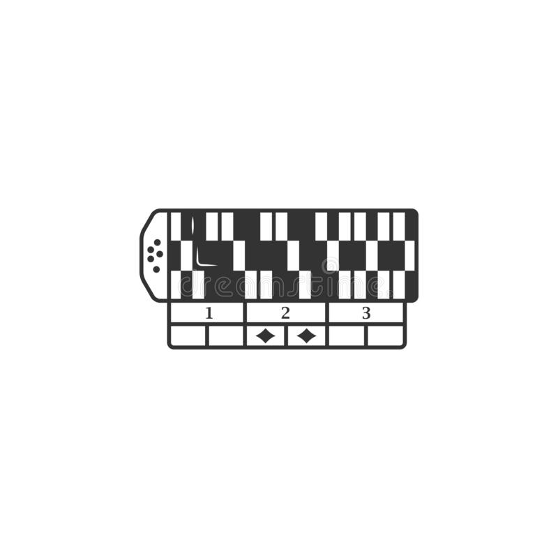 Het pictogram van de casinolijst Element van luchthavenpictogram voor mobiele concept en webtoepassingen Het gedetailleerde picto vector illustratie