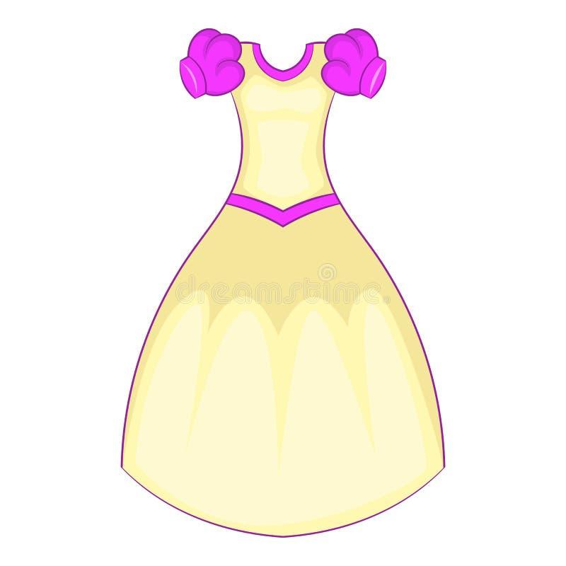 Het pictogram van de Cinderellakleding, beeldverhaalstijl vector illustratie