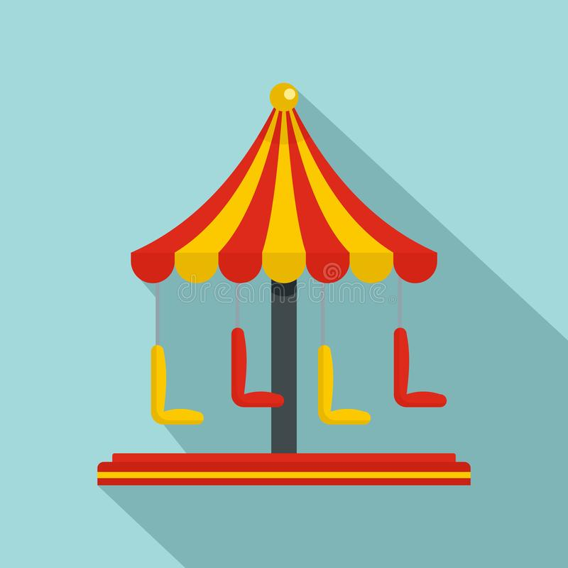 Het pictogram van de circuscarrousel, vlakke stijl vector illustratie