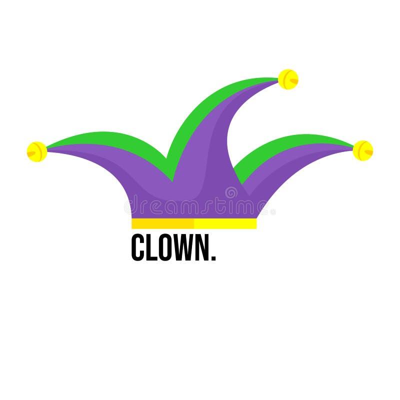 Het Pictogram van de clownshoed - Vector vector illustratie