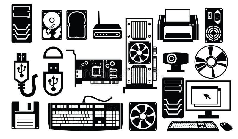 Het pictogram van de computerhardware royalty-vrije illustratie
