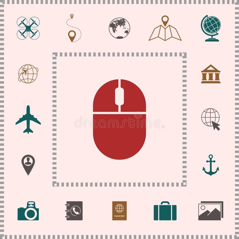 Het pictogram van de computermuis royalty-vrije illustratie