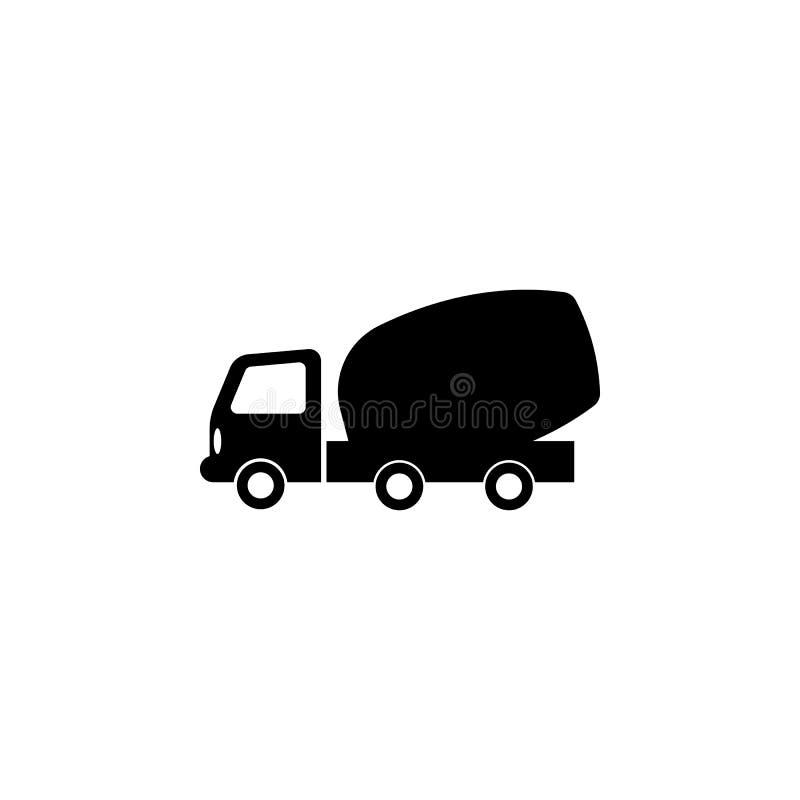 Het pictogram van de concrete mixervrachtwagen Elementen van vervoerpictogram Grafisch het ontwerppictogram van de premiekwalitei royalty-vrije illustratie