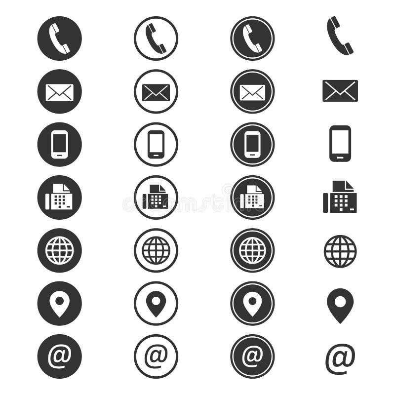 Het pictogram van de contactinformatie stock illustratie