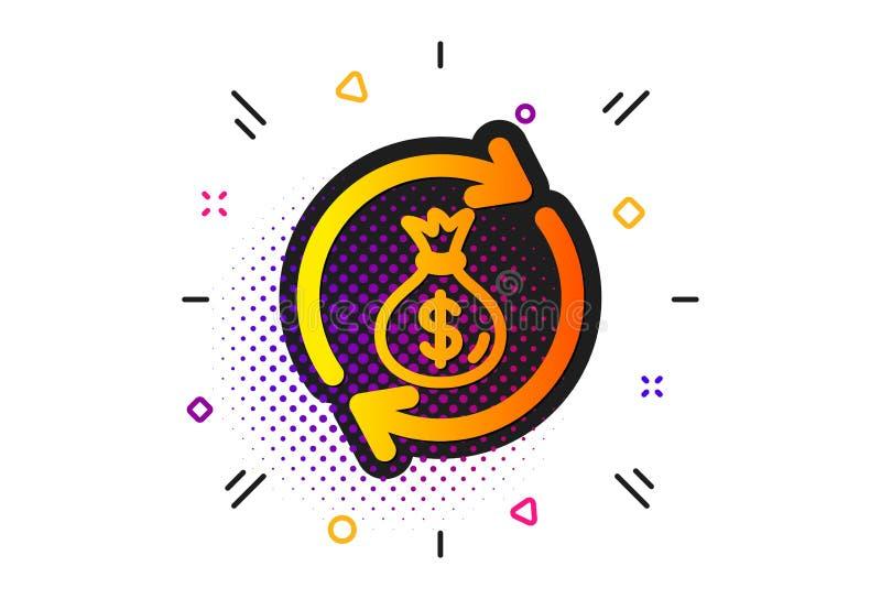 Het pictogram van de contant gelduitwisseling De zak van het dollargeld Vector vector illustratie