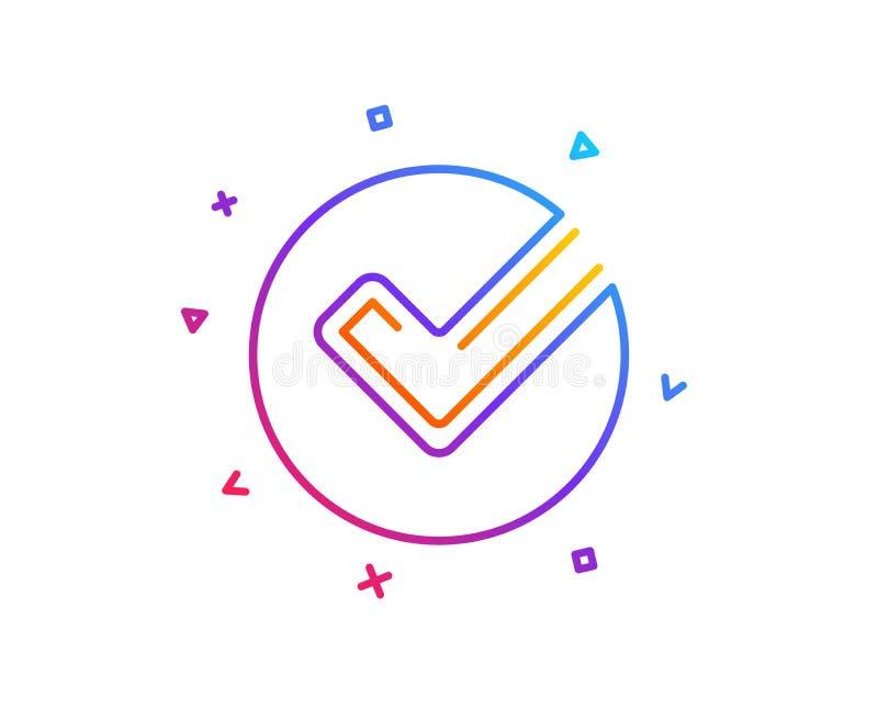 Het pictogram van de controlelijn Goedgekeurd Tikteken Vector stock illustratie