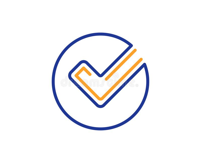 Het pictogram van de controlelijn Goedgekeurd Tikteken Vector vector illustratie