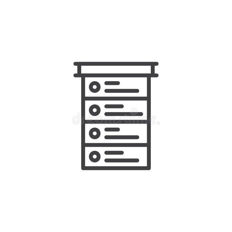 Het pictogram van de controlelijstlijn royalty-vrije illustratie