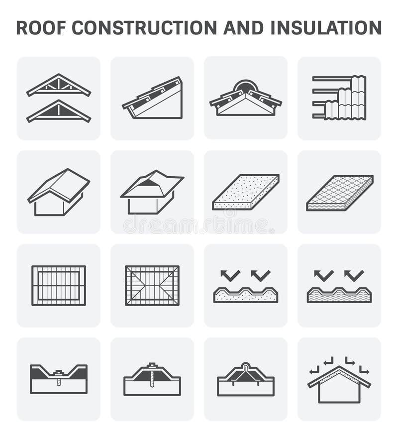 Het pictogram van de dakbouw stock illustratie