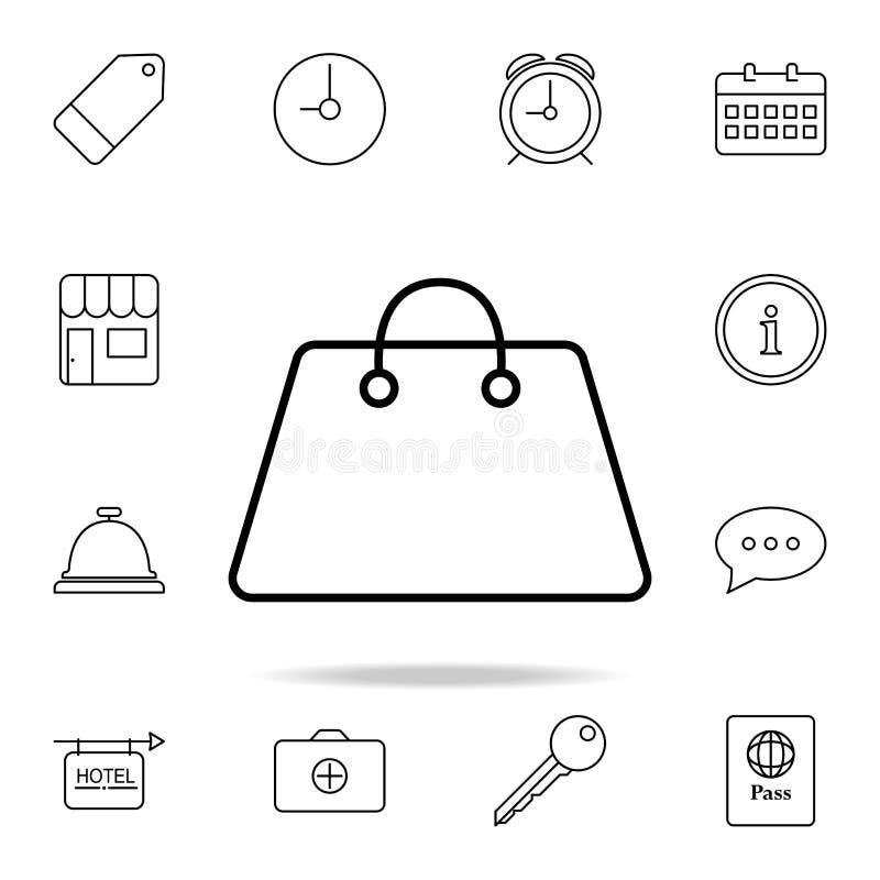 Het pictogram van de dame\ 's zak Element van eenvoudig pictogram voor websites, Webontwerp, mobiele app, informatiegrafiek Het d stock illustratie