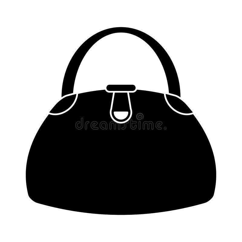 Het pictogram van de de manierstijl van de vrouwenhandtas stock illustratie