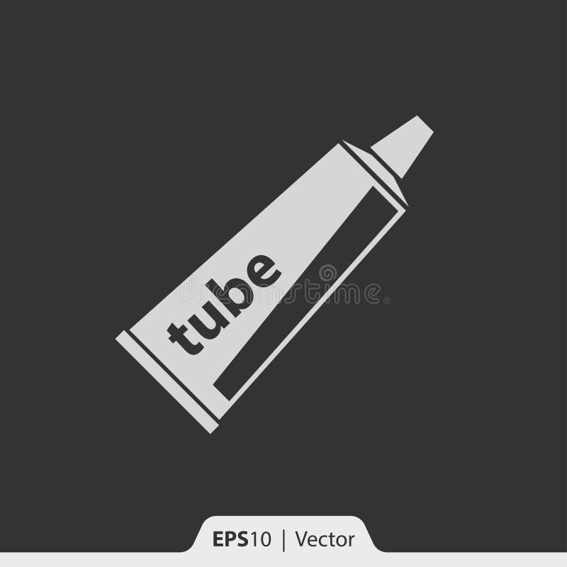 Het pictogram van de deegbuis voor Web en mobiel vector illustratie