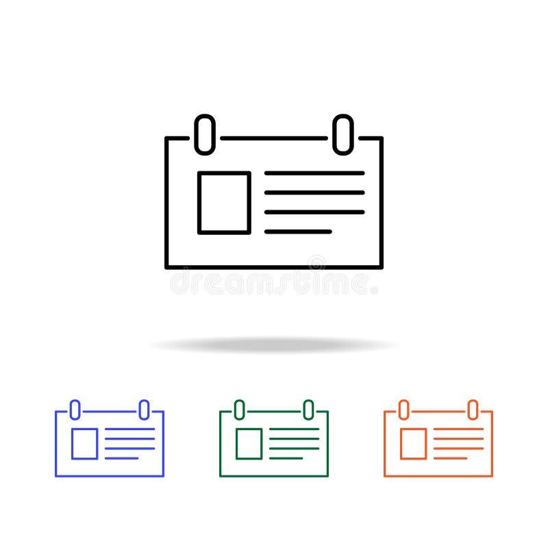het pictogram van de Desktopblocnote Elementen van eenvoudig Webpictogram in multikleur Grafisch het ontwerppictogram van de prem vector illustratie