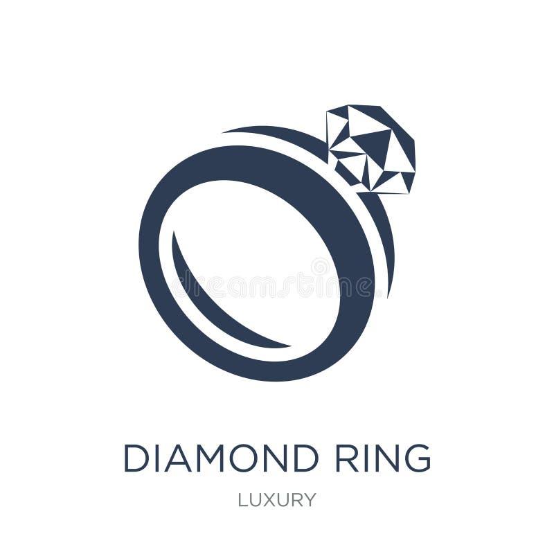 Het pictogram van de diamantring  stock illustratie