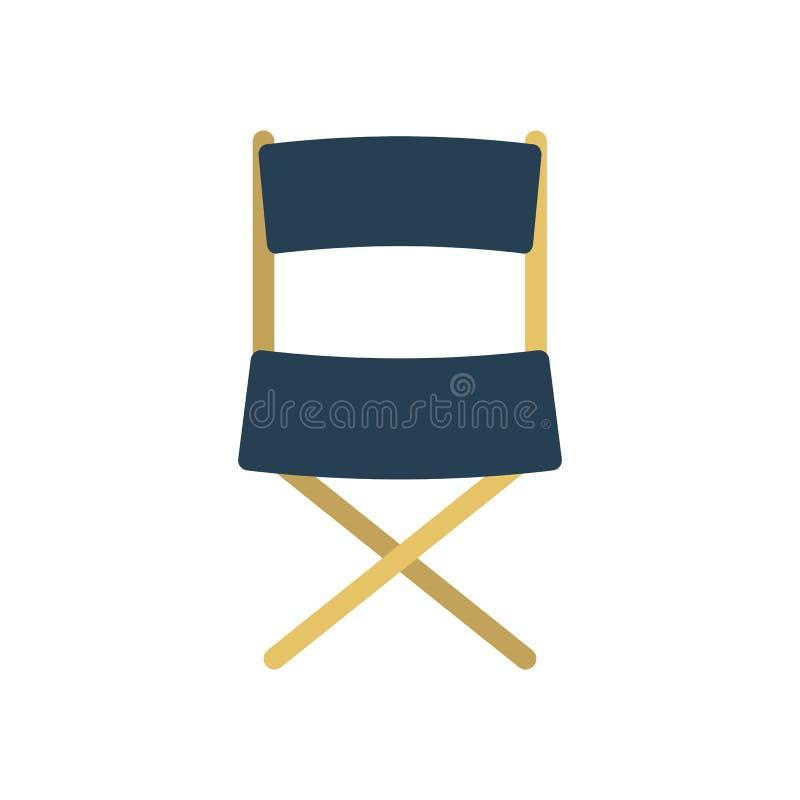 Het pictogram van de directeurs` s stoel vector illustratie