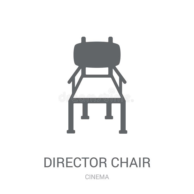 Het pictogram van de directeursstoel  stock illustratie