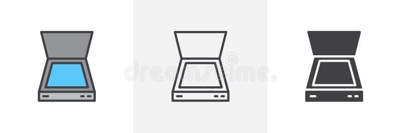 Het pictogram van de documentscanner royalty-vrije illustratie