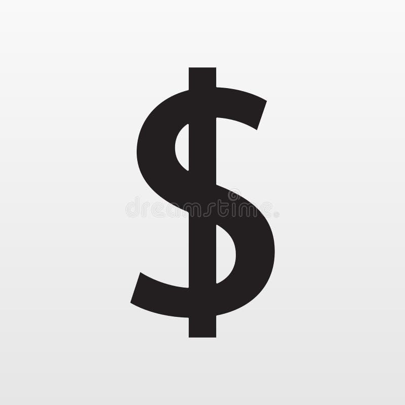 Het pictogram van de dollar Grijs die geld op achtergrond wordt geïsoleerd Modern vlak pictogram, zaken, marketing, Internet vector illustratie