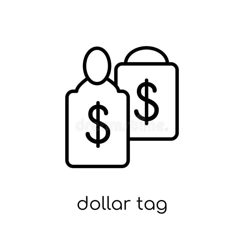 Het pictogram van de dollarmarkering  vector illustratie