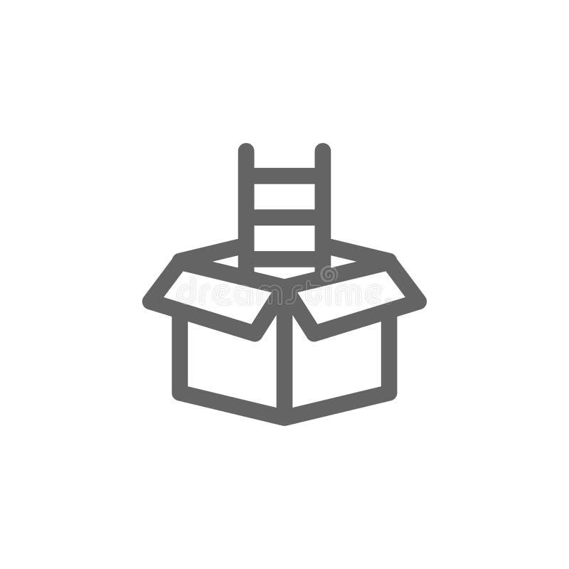 Het pictogram van de doosladder Element van eenvoudig pictogram royalty-vrije illustratie
