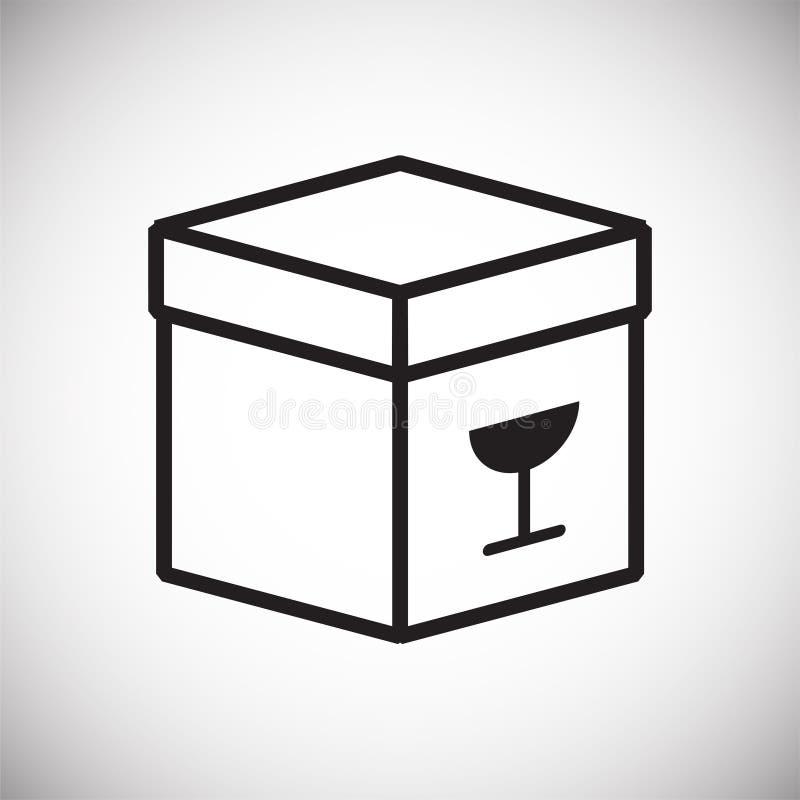 Het pictogram van de dooslijn op zwarte achtergrond voor grafisch en Webontwerp, Modern eenvoudig vectorteken Het concept van Int stock illustratie