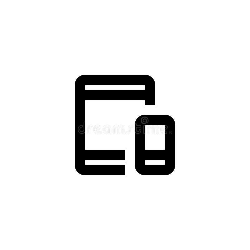 Het pictogram van de dossieroverdracht Synchronisatieteken royalty-vrije illustratie