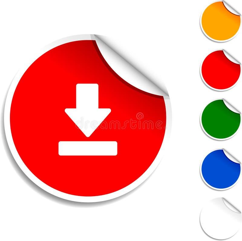 Het pictogram van de download. stock illustratie