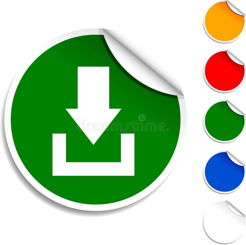 Het pictogram van de download. royalty-vrije illustratie