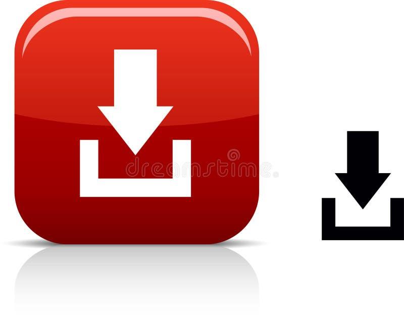 Het pictogram van de download. vector illustratie