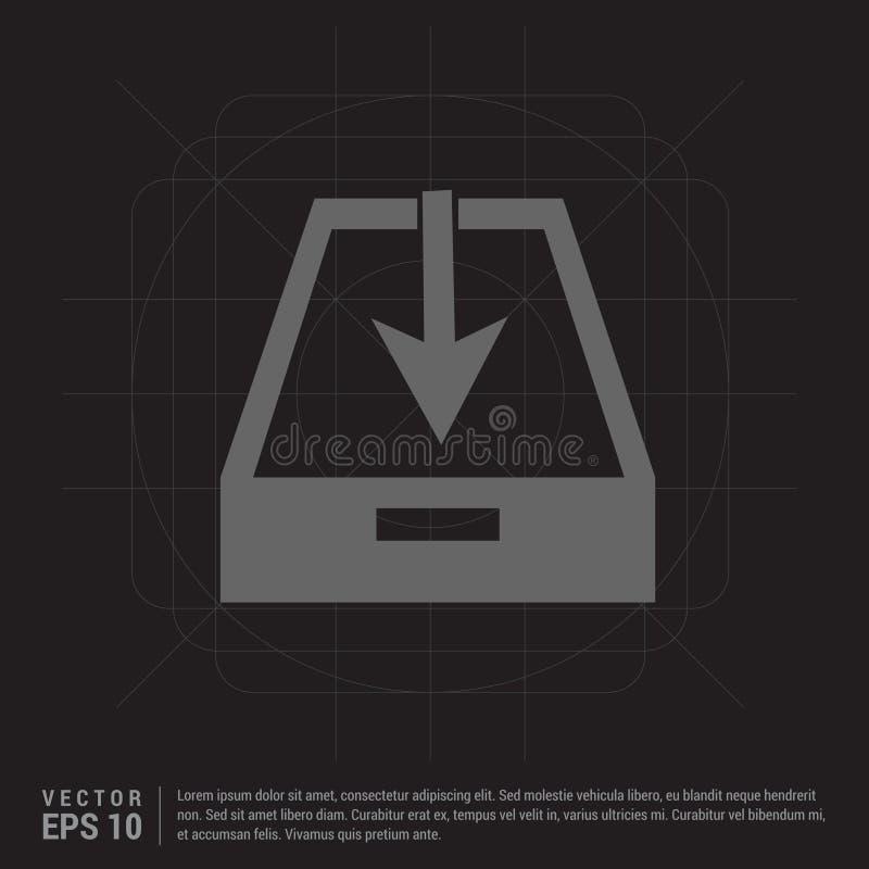 Het pictogram van de download stock illustratie