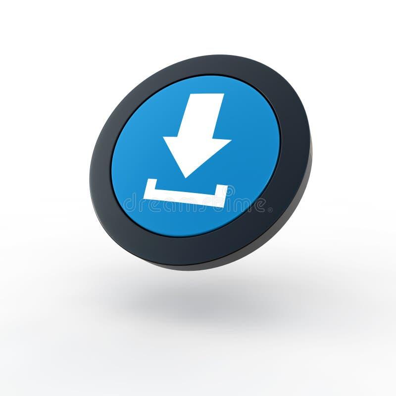 Het pictogram van de download vector illustratie