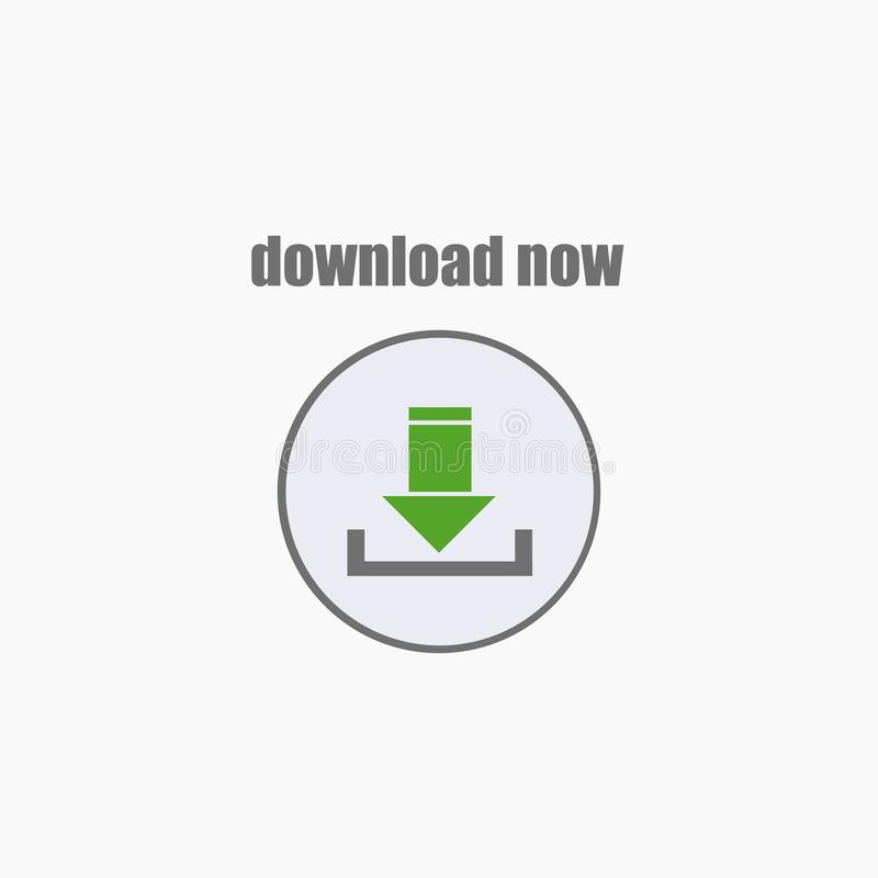 Het pictogram van de download embleem Vector illustratie Eps 10 royalty-vrije illustratie