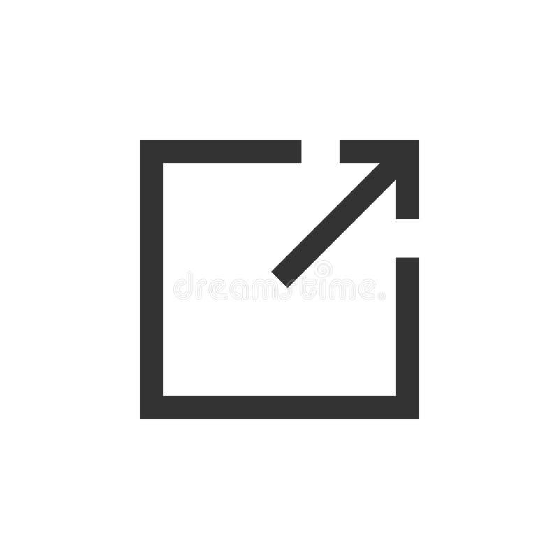 Het pictogram van de download Extern Verbindingspictogram, symbool Vector illustratie Vlak Ontwerp vector illustratie