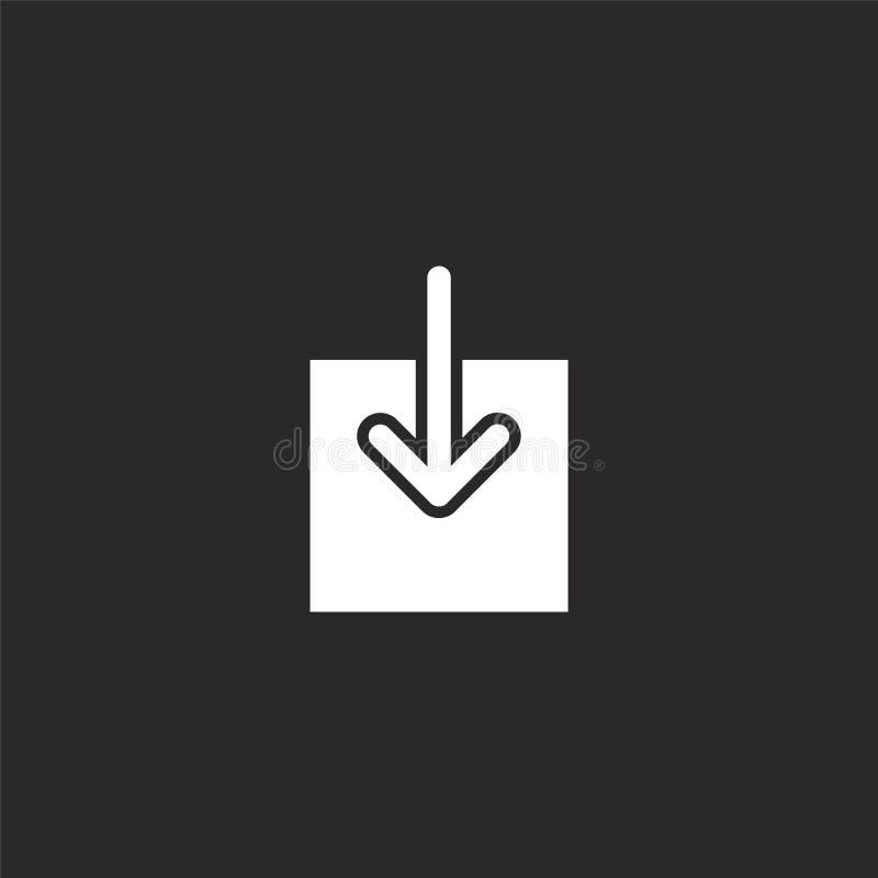 Het pictogram van de download Gevuld downloadpictogram voor websiteontwerp en mobiel, app ontwikkeling downloadpictogram van gevu stock illustratie