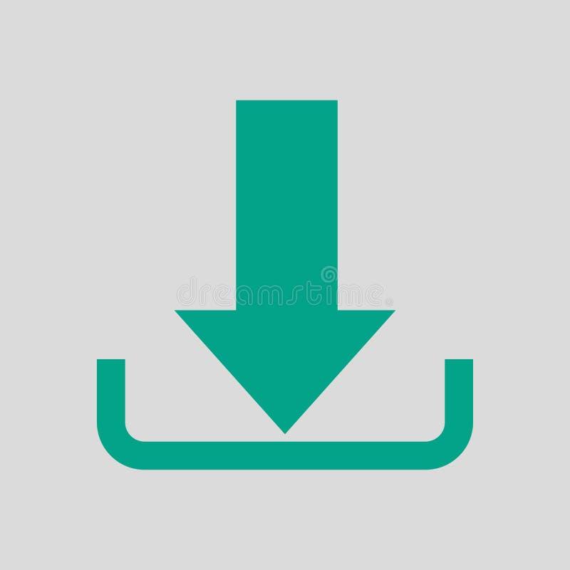 Het pictogram van de download royalty-vrije illustratie