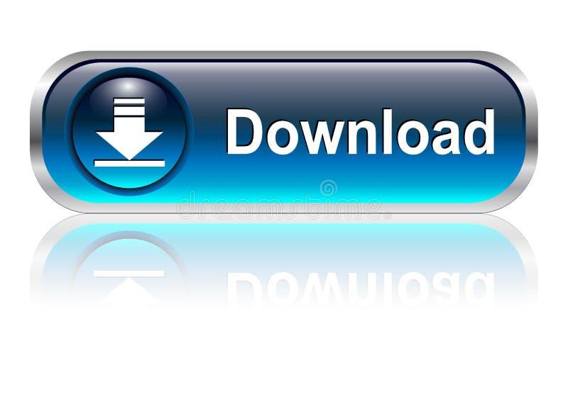 Het pictogram van de download, knoop royalty-vrije illustratie