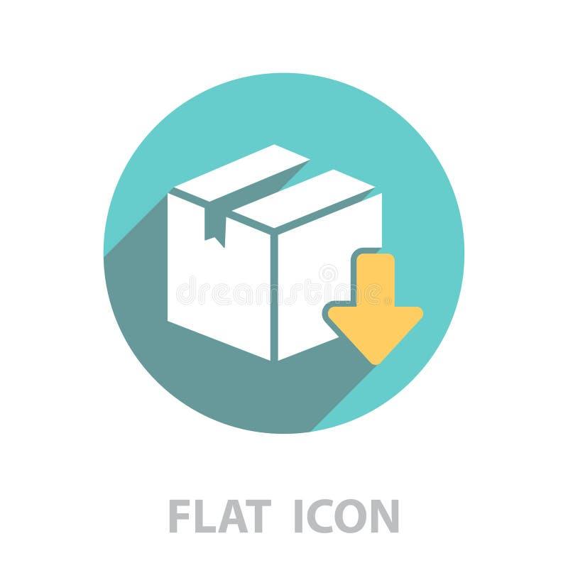 Het pictogram van de download Vector stock illustratie