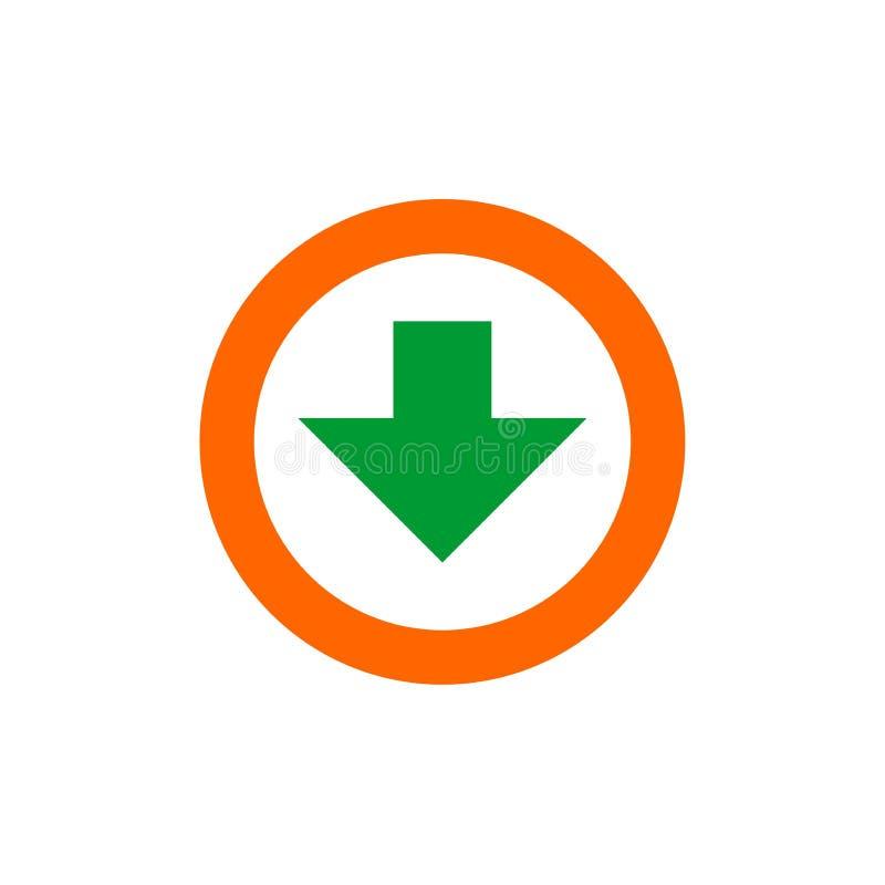 Het pictogram van de download vlakke illustratie van download vectorpictogram voor Web of mobiele toepassing vector illustratie