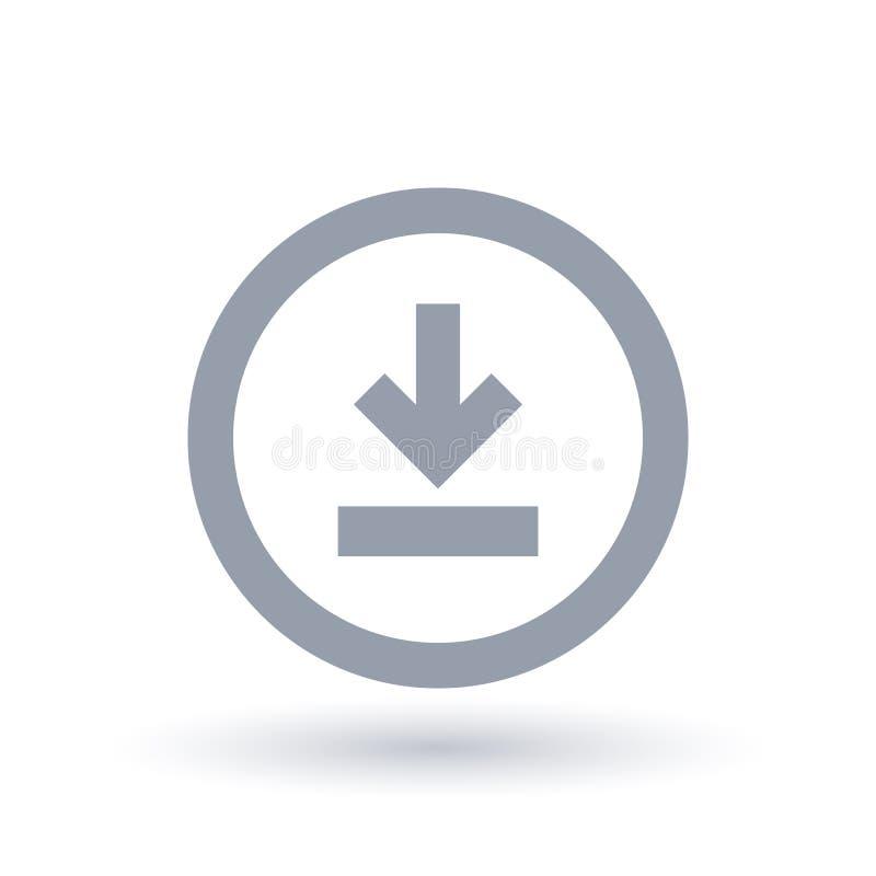 Het pictogram van de downloadpijl Het downloaden van symbool vector illustratie