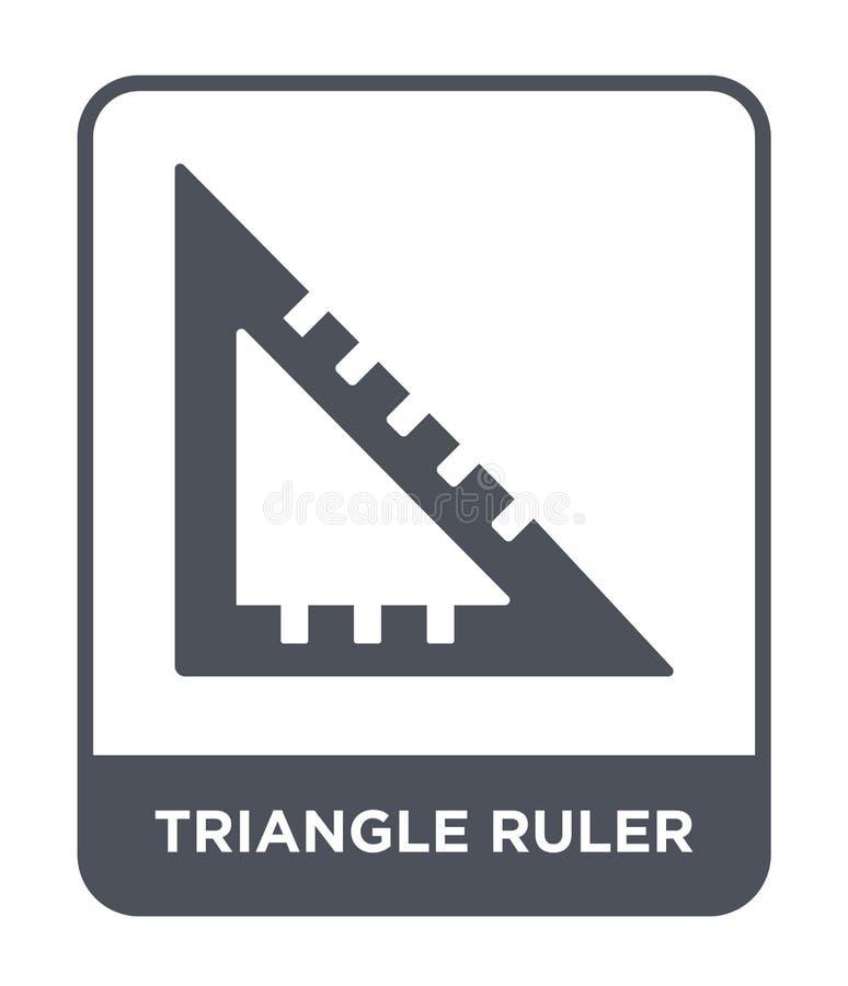 het pictogram van de driehoeksheerser in in ontwerpstijl het pictogram van de driehoeksheerser op witte achtergrond wordt geïsole royalty-vrije illustratie