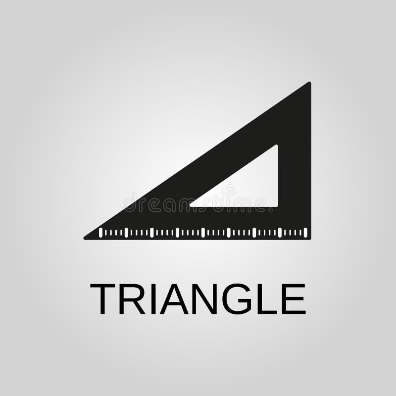 Het pictogram van de driehoeksheerser Het symbool van de driehoeksheerser Vlak Ontwerp Voorraad - Vectorillustratie royalty-vrije illustratie