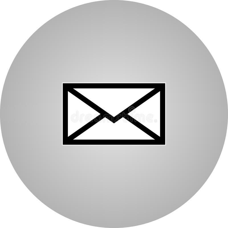 Het pictogram van de e-mailsymboolbrief - vector royalty-vrije stock fotografie