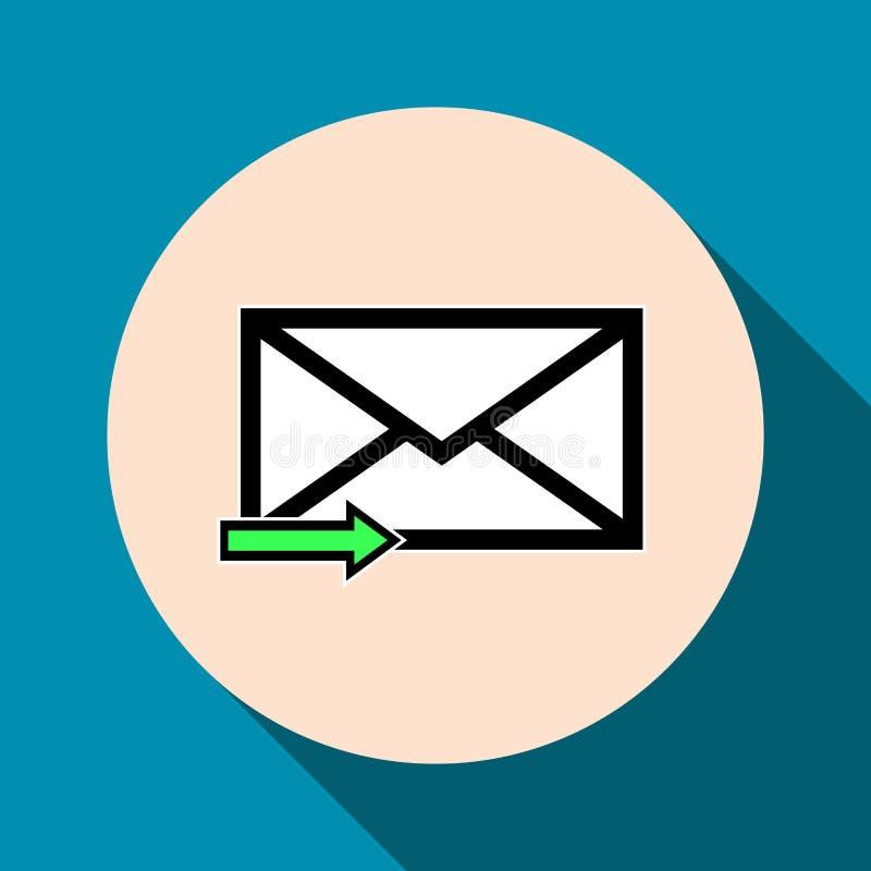 Het pictogram van de e-mailsymboolbrief - vector stock foto