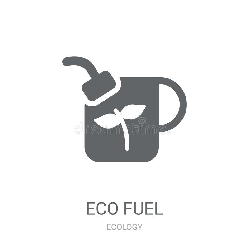 Het pictogram van de Ecobrandstof  royalty-vrije illustratie