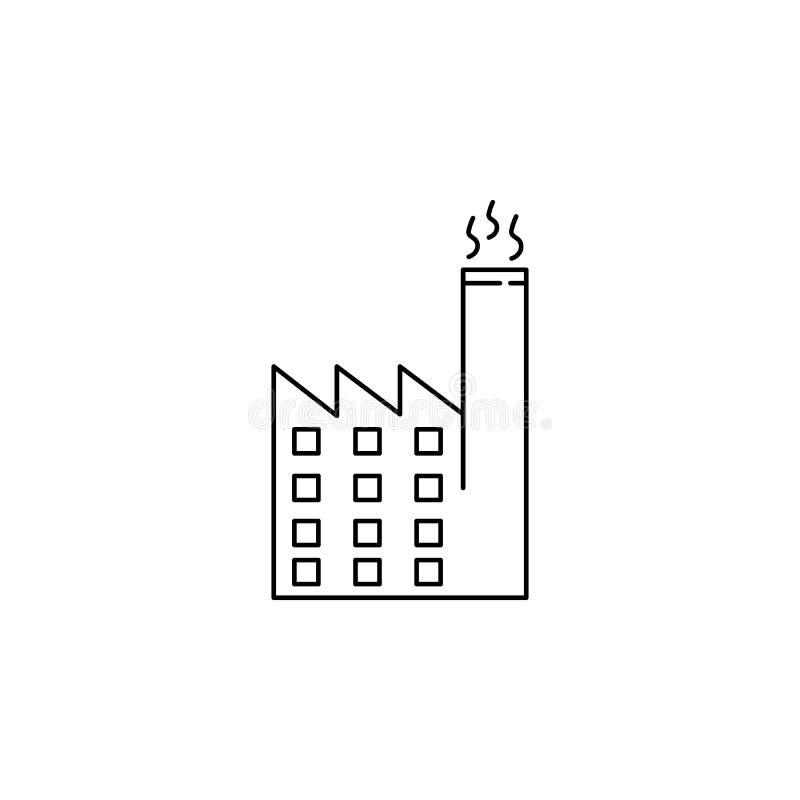 Het pictogram van de Ecofabriek vector illustratie